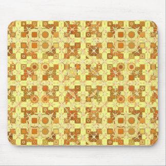Alfombrilla De Ratón Batik tribal - amarillo, marrón de oro y moreno