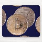 Alfombrilla De Ratón Bitcoin metallic made of copper. M1