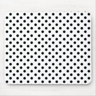 Alfombrilla De Ratón Black polka dots in white