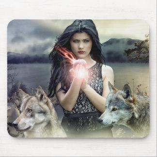 Alfombrilla De Ratón Bola de la mujer mística y cojín de ratón mágicos