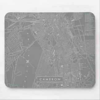 Alfombrilla De Ratón Bosquejo del mapa de la ciudad de Boston