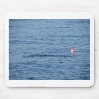 Alfombrilla De Ratón Buceador del mar en nadada del juego del equipo de