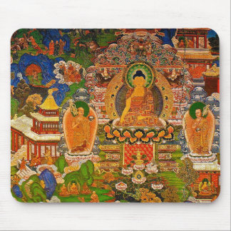 Alfombrilla De Ratón Buddhism budista de Buda que bendice al bohemio de