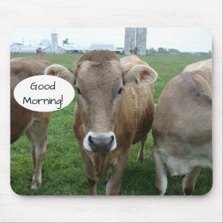 Alfombrilla De Ratón Buena mañana de su coalición local de la vaca del