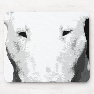 Alfombrilla De Ratón Bull terrier blanco y negro