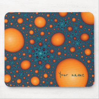 Alfombrilla De Ratón Burbujas anaranjadas. Añada su texto del nombre o