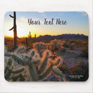 Alfombrilla De Ratón Cactus con el desierto de la superstición de la