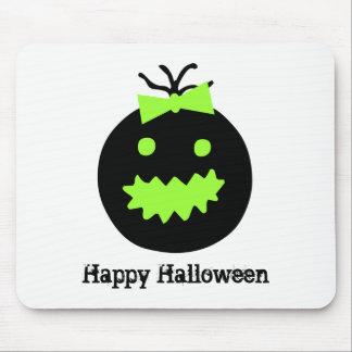 Alfombrilla De Ratón Calabaza linda de Halloween con el arco