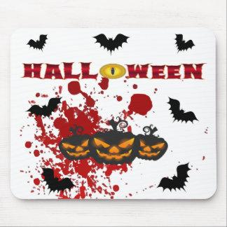 Alfombrilla De Ratón Calabaza malvada Halloween