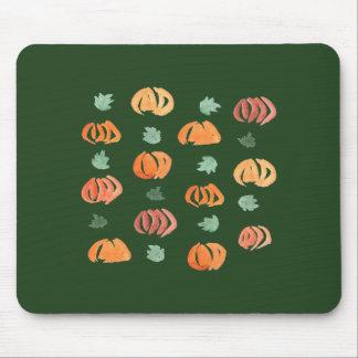 Alfombrilla De Ratón Calabazas con las hojas Mousepad