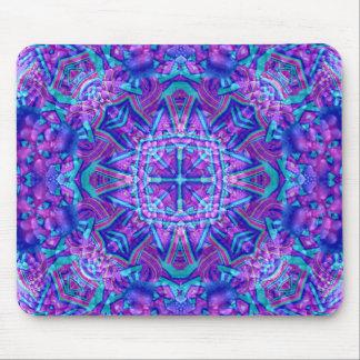 Alfombrilla De Ratón Caleidoscopio púrpura y azul Mousepad   del