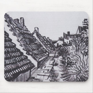 Alfombrilla De Ratón Calle en Saintes-Maries de Vincent van Gogh