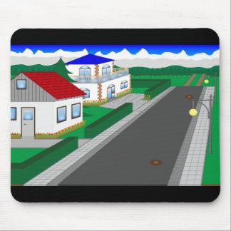 Alfombrilla De Ratón Calles y construcción de casa