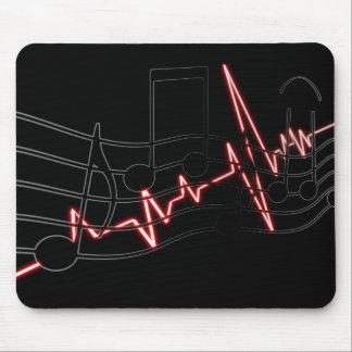 Alfombrilla De Ratón Canción, tono y latido del corazón de la música