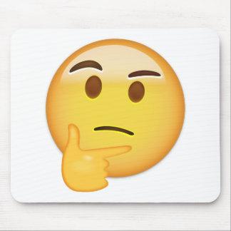 Alfombrilla De Ratón Cara de pensamiento Emoji