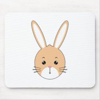 Alfombrilla De Ratón Cara del conejo