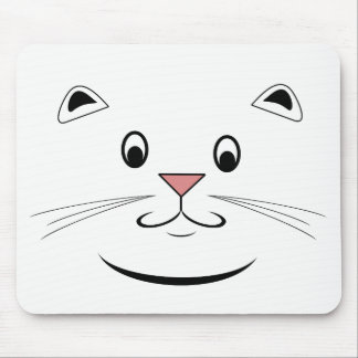 Alfombrilla De Ratón Cara feliz Mousepads del gato
