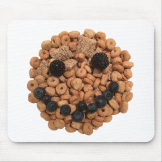 Alfombrilla De Ratón Cara sonriente linda de la fruta y del cereal