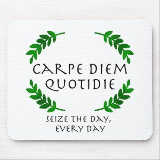 Alfombrilla De Ratón Carpe Diem Quotidie - agarre el día, cada día