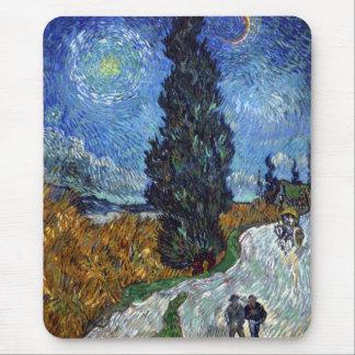 Alfombrilla De Ratón Carretera nacional de Van Gogh en Provence por