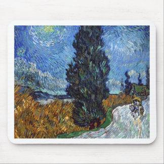 Alfombrilla De Ratón Carretera nacional de Vincent van Gogh en Provence
