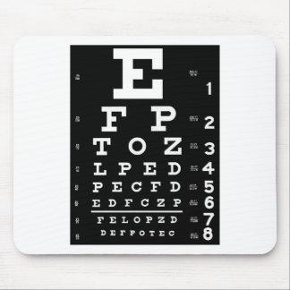 Alfombrilla De Ratón Carta de ojo