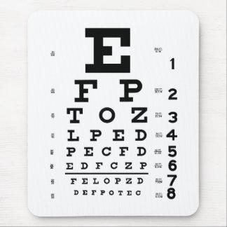 Alfombrilla De Ratón Carta de ojo de la optometría de la oftalmología
