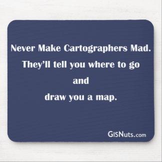 Alfombrilla De Ratón Cartógrafos Mousepad enojado