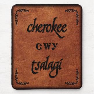 Alfombrilla De Ratón Cherokee de cuero - Tsalagi