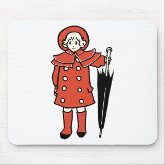 Alfombrilla De Ratón Chica con el paraguas