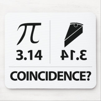 Alfombrilla De Ratón Chiste de la matemáticas de la coincidencia del pi