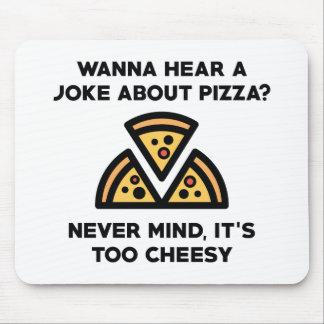 Alfombrilla De Ratón Chiste de la pizza