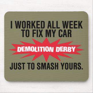 Alfombrilla De Ratón Choque de Derby de la demolición su coche