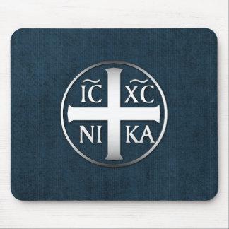Alfombrilla De Ratón Christogram ICXC NIKA Jesús conquista
