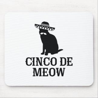 Alfombrilla De Ratón Cinco De Meow