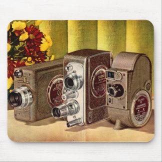 Alfombrilla De Ratón circa anuncio de 1950 cámaras de película casera