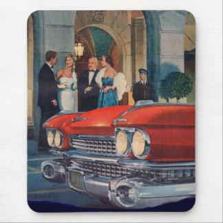 Alfombrilla De Ratón circa la parrilla de Cadillac de 1960 rojos