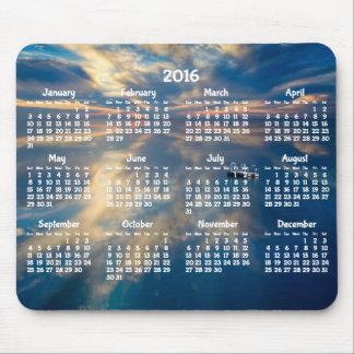 Alfombrilla De Ratón Cojín 2016 de ratón anual del calendario de la