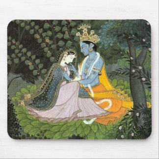 Alfombrilla De Ratón Cojín de ratón colorido de Krishna y de Radha