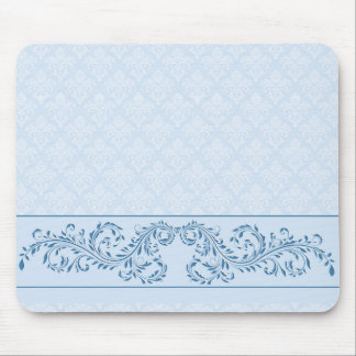 Alfombrilla De Ratón Cojín de ratón - damasco azul helado
