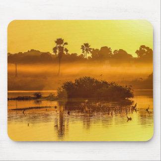 Alfombrilla De Ratón Cojín de ratón de la salida del sol de Gambia