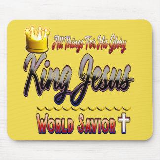 Alfombrilla De Ratón Cojín de ratón de rey Jesús World Savior Christian