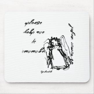 """Alfombrilla De Ratón """"Cojín de ratón del ángel de la nota"""""""
