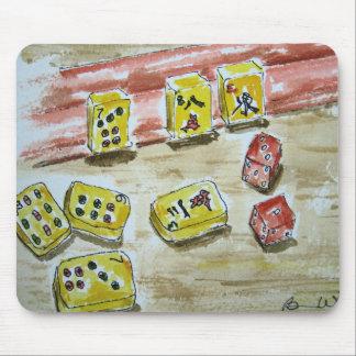 Alfombrilla De Ratón Cojín de ratón del Mah Jongg (mahjong)