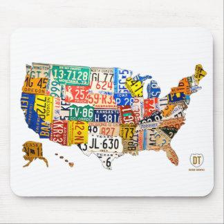 Alfombrilla De Ratón Cojín de ratón del mapa de la placa de Estados Uni