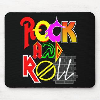 Alfombrilla De Ratón Cojín de ratón del rock-and-roll (negro)