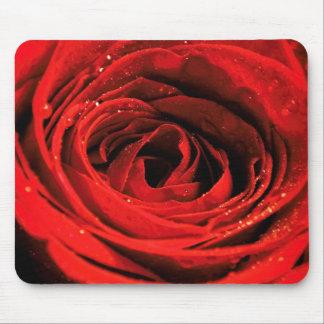 Alfombrilla De Ratón Cojín de ratón del rosa rojo