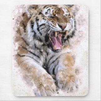 Alfombrilla De Ratón Cojín de ratón del rugido del tigre