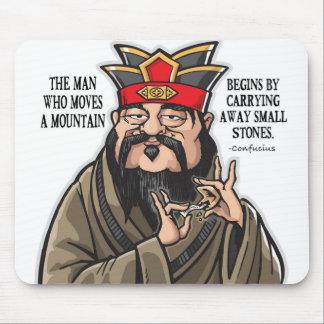 Alfombrilla De Ratón Cojín de ratón inspirado de la cita de Confucio