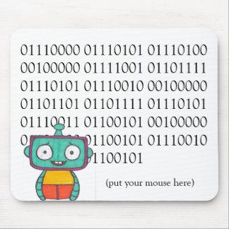 Alfombrilla De Ratón Cojín de ratón lindo del robot